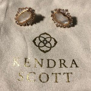 Kendra Scott Rose Gold Statement Stud Earrings